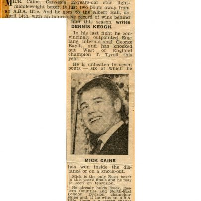 Canvey News. Click to see enlargement   Mick Cain
