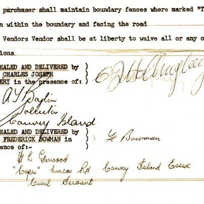 Hollingbery's signature