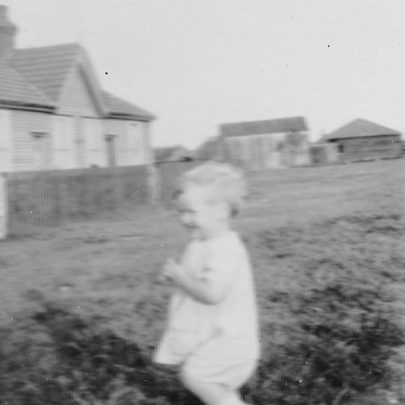 1927. End view of Chase Cottages with Brickhouse Farm in background. | Joyce Cowell