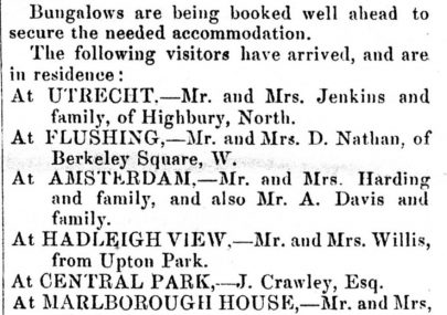 Visitors' List For Canvey