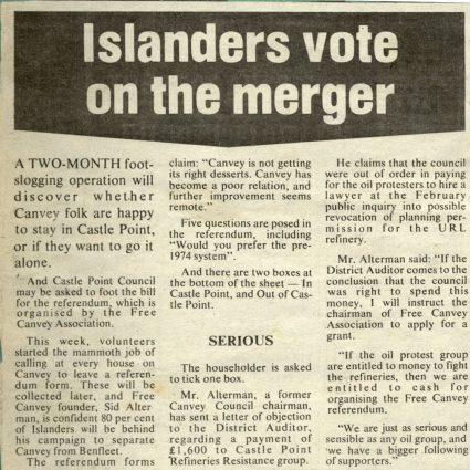 Islanders Vote on the Merger