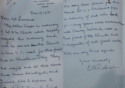A Letter Full of Canvey History