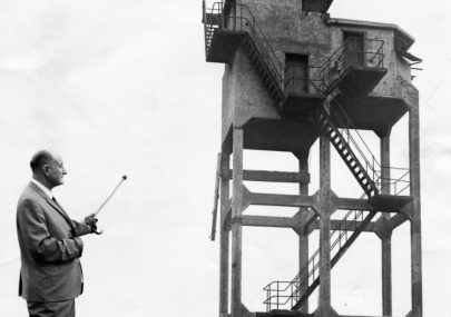Col. Fielder at Canvey Fort 1969
