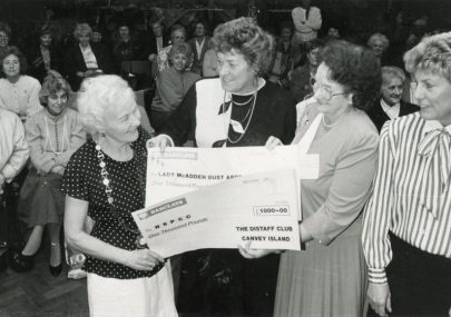 Distaff Club Cheque Presentation