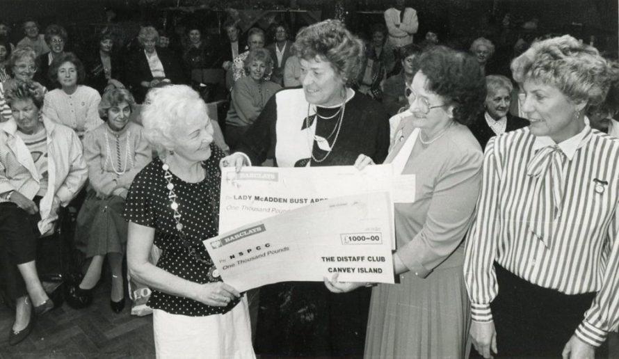 Distaff Club Cheque Presentation | Echo Newspaper Archive