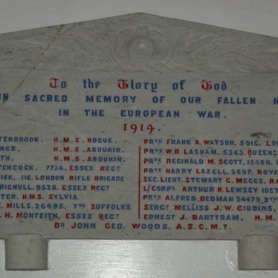 WW1 Roll of Honour transferred from St Katherine's | Janet Penn