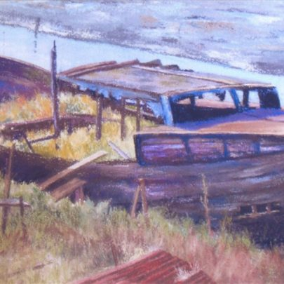 'Waiting for a refit' watercolour | Dudley George