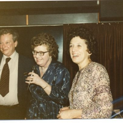 6 March 1981 Mississippi River Boat Dance and Super in aid of Canvey WRVS Leisure Club. Joan Lock in the middle | WRVS