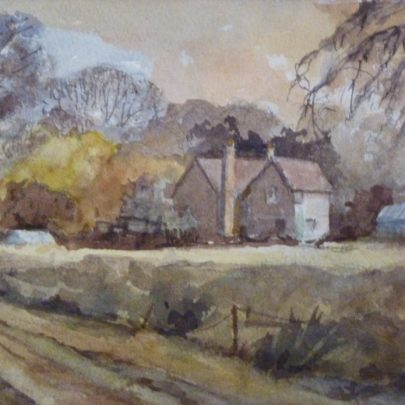 'Blatches Farm' in watercolour | Dudley George
