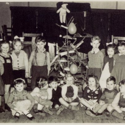 Children's Fancy Dress Party Whittier Hall late 1950's. These children are now all in their 70's | Doris Flaherty