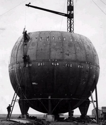 The ball during construction   1930s