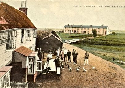 Coloured Postcard of the Lobby