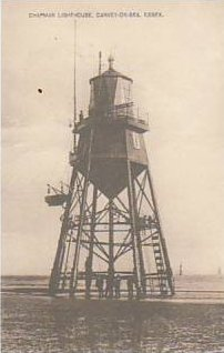 Postcard dated c1909-1910 of the Chapman lighthouse | Jon Swinn