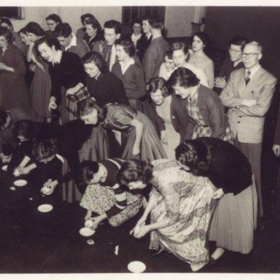Margaret ? 21st birthday party at Whittier Hall c1952.  | Doris Flaherty