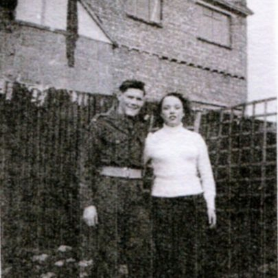 Brian and Eileen (Stan's sister) in the garden at Grasmere Road. | Stan Weeden