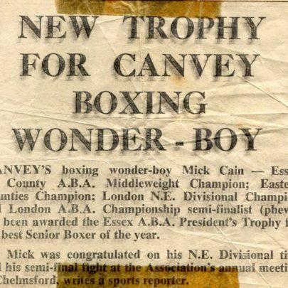Canvey News   Mick Cain