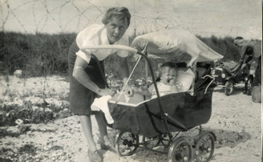 Joan's mother with sister Sheila in the pram and cousin Tony Matthews and his mother Gladys in the background | Joan Liddiard