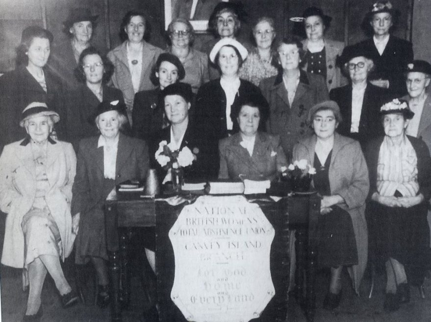 Canvey Island Branch of the National British Women's Total Abstinence Union. At the Whittier Hall in the 1930's
