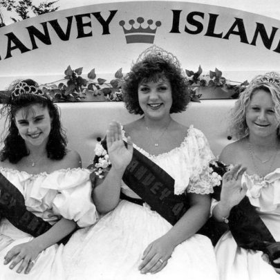 Carnival court 1992, Queen Suzanne, Princesses Marie and Amber