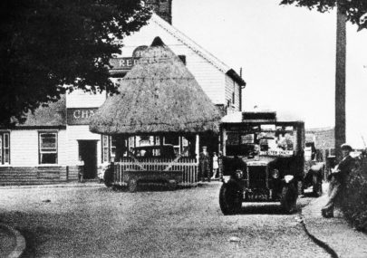 Village pump and Red Cow Inn