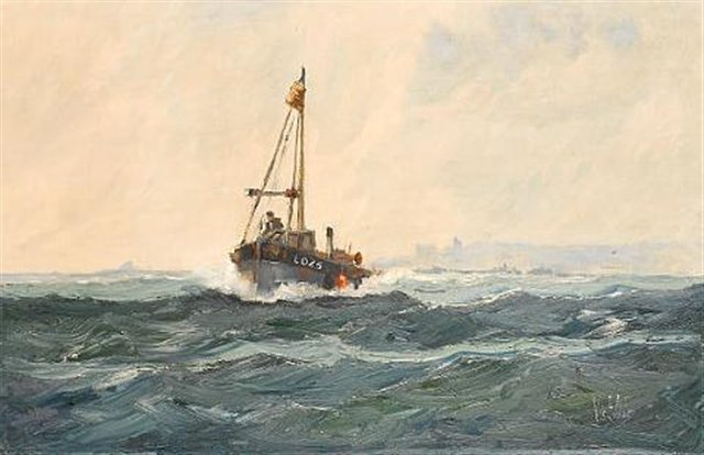 Oil on Canvas. Leigh-On-Sea fishing boat