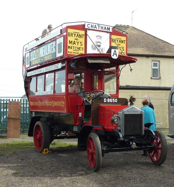 1912 Hallford Omnibus. This very rare bus was brought to Canvey on the back of a lorry | Janet Penn