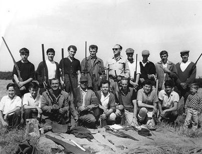 Early 60's Canvey Wildfowlers Club members on a visit to the