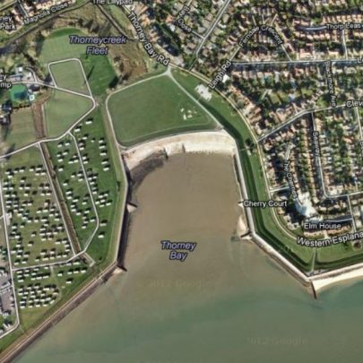 c2010 Thorney Bay as it is today and the saltings area of the original Creek area has been filled in completely