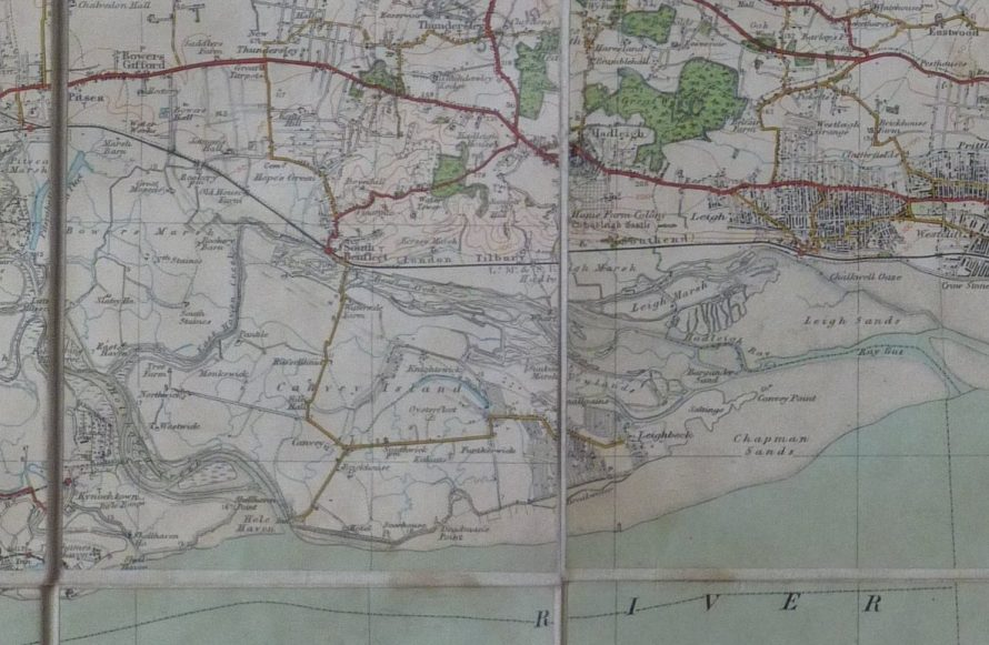 Canvey as shown on the map. No hunting here but you can just see the areas in Benfleet and Hadleigh marked | Janet Penn