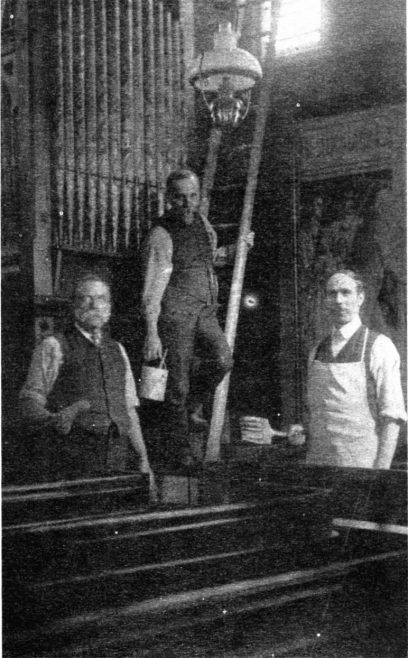 The caption on this picture states 'Rev Henry Hayes, John Harrison and William Wood | Fred McCave