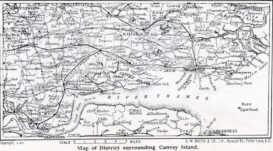 Canvey Map 1932