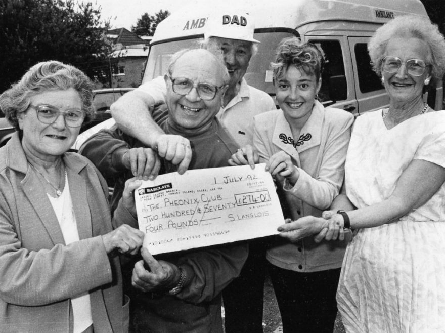 l-r Anne Stock, Eddie Stacey, Fred Monk, Sandra Langlois and Gladys Booth | Echo Newspaper Archive