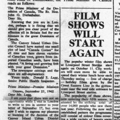 Canadian PM hears of Canvey Scheme | Canvey News and Benfleet Recorder 5 October 1962
