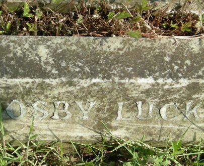 Monumental Inscription St Katherine's of Alice Luck   J Penn