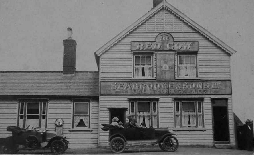 Early postcard of the Red Cow