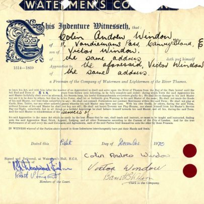 Colins Certificate of indenture | Collin Window