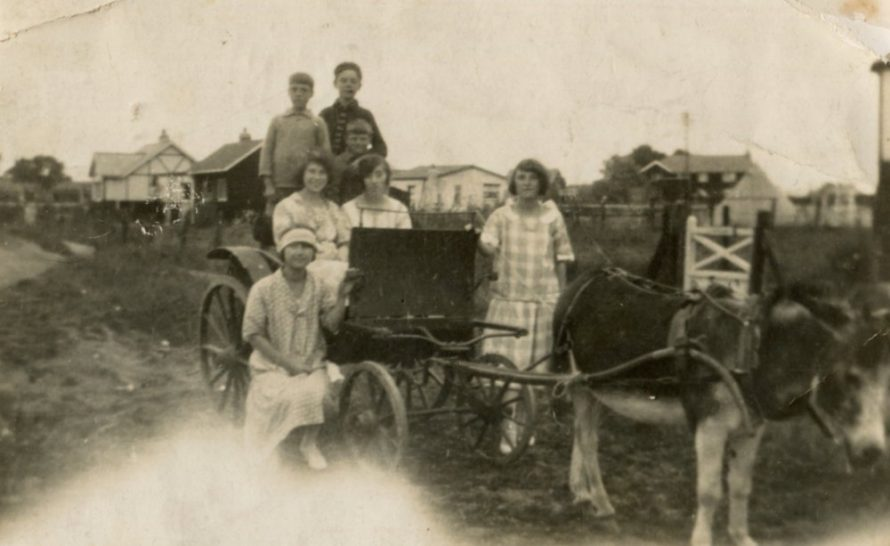 Maurice Road 1926 with Reg and Bert Bishop | Joan Liddiard