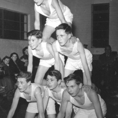 Boys Brigade Display in Youth Hall in the early 1950's | Robert Barrett in bottom row
