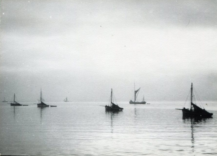Bawleys anchored in the Haven | H Reed
