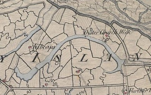 1798 map showing the farm called Kibcaps | Click on the picture to be taken to the full sized map