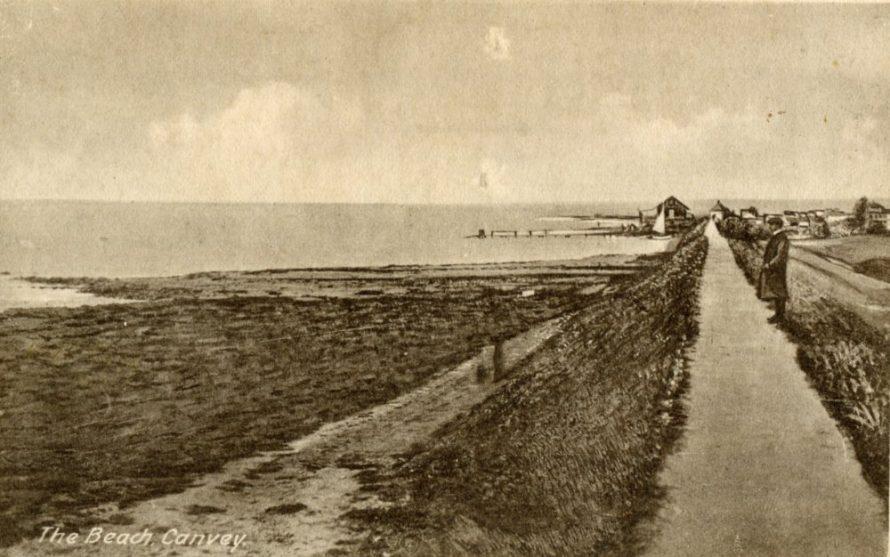 Old Canvey Beach Postcard