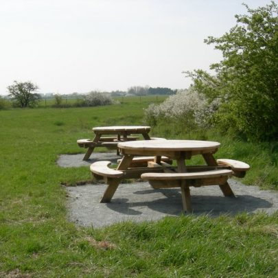 Pantile Farm picnic area. The grass area covers the remains of the farm | Janet Penn