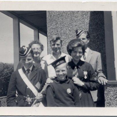Stevens Family in uniform. Graham & Chris - Boys Brigade. Jenny - Girls LB. Trevor - Life Boys   Stevens