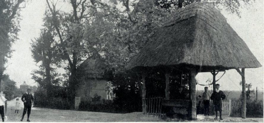 The Old Well, Sunk by Public Subscription Aided by a Gift from the City of London (1622 Dutch Cottage behind and Vicarage in the distance) | C.H.Avery