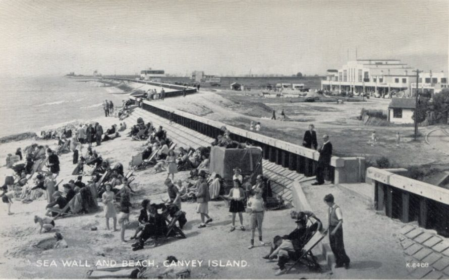 Valentine Postcard of the Seafront