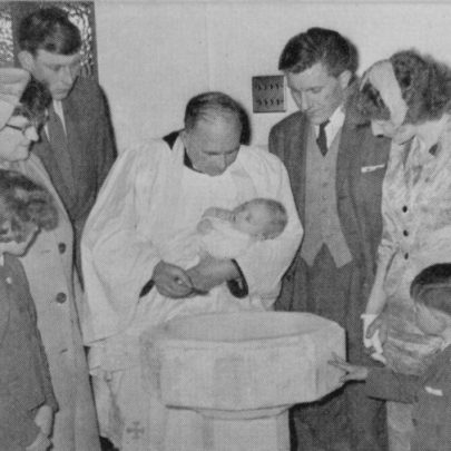 A Baptism in St Nicholas Church