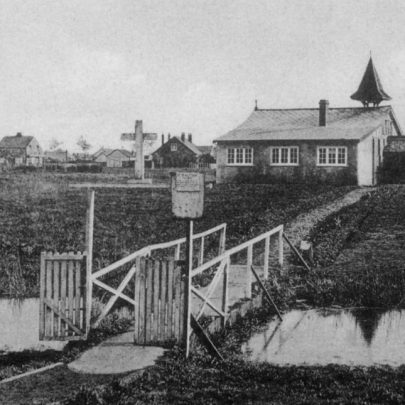 St Anne's after a porch was added. Mid 1920's