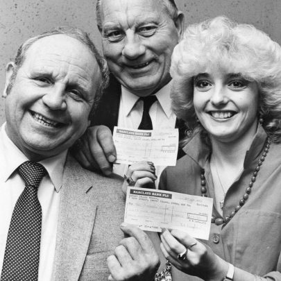 1984 Eddie Stacey, Bernard Griffith and Sandra Langlois