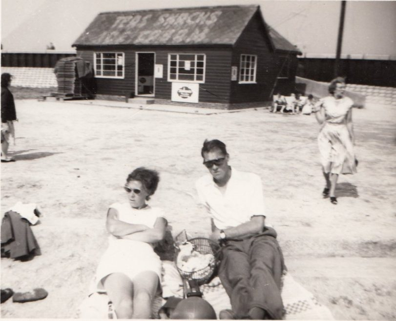 Ray's mum and dad at Thorney Bay 1957 | R Addison