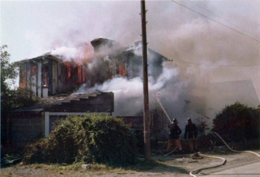 Blaze at 'Crystaldene', Trevia Avenue